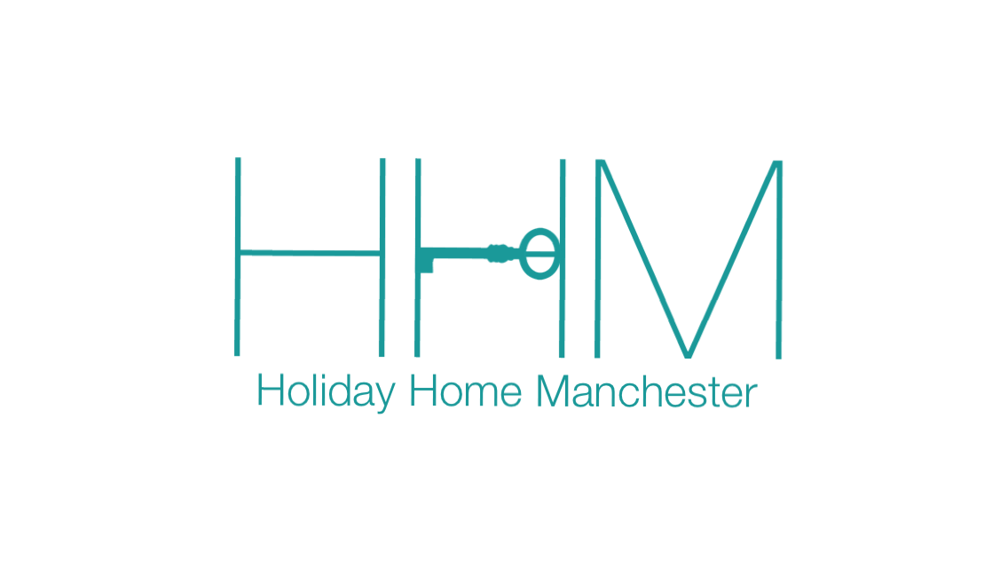HOliday HOme Manchester Logo 3 Green Letters with Green Door Key